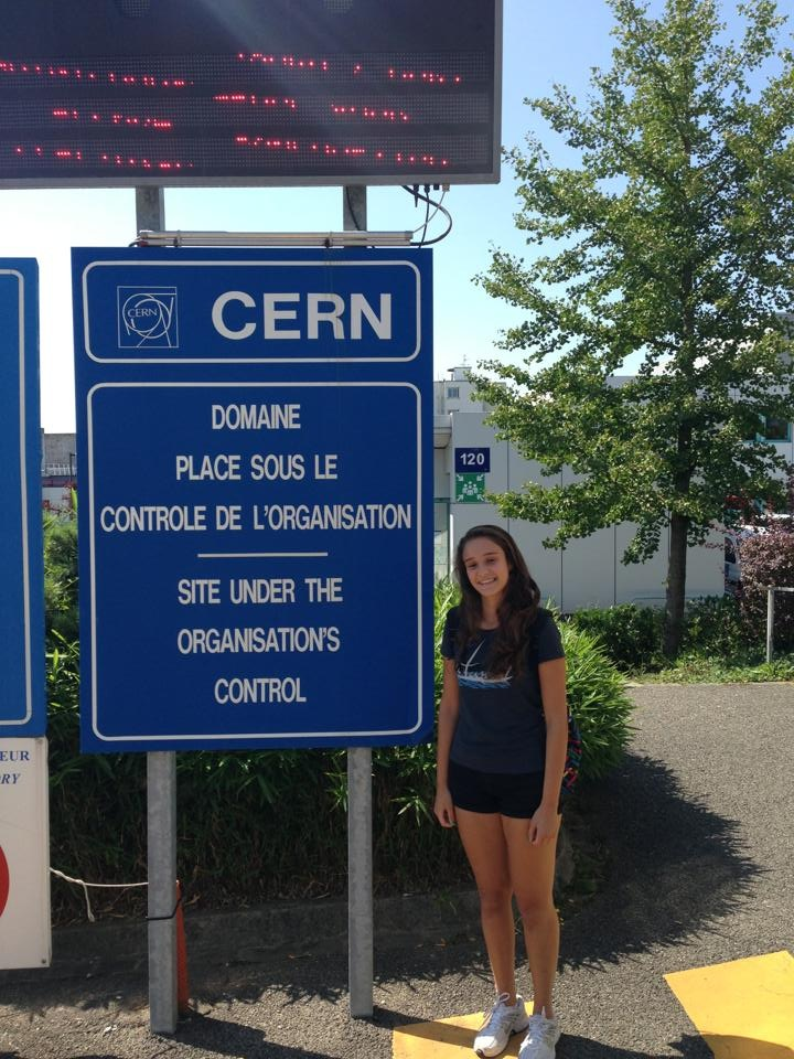 Elif at CERN Labs - 2