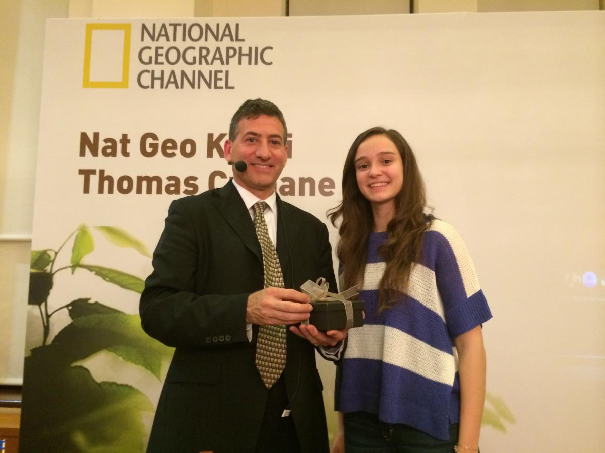 With her mentor T.H. Culhane, National Geographic Explorer